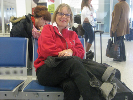 Babs am Flughafen