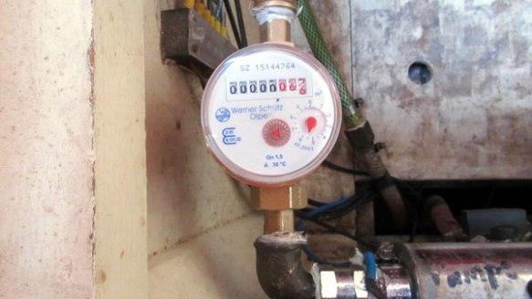 Eingebaute-Wasseruhr